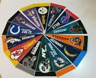 32 NFL Mini Pennants all teams from late 1990s/2000 Very Good Condition $1.5 USD on eBay