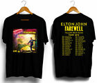 Elton John Tour 2018 Farewell Yellow Brick Road Men's Black Tees Shirt Clothing image
