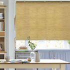 Natural Woven Bamboo Color Free Stop Cordless Roller Shade Roller Window Blind