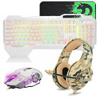 4in1 For PS4 Gaming Combo RGB Backlit Gaming Keyboard and Mouse + Headset Bundle