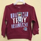 RUSSELL I LOVE MY TROY TROJANS Fleece Crewneck Pullover Sweater, Red on eBay