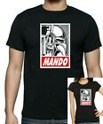Star Wars :MANDALORIANS : Mando: Obey style T-shirt .. available up to 5 X Large $19.65 USD on eBay