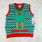 """MERRY CHRISTMAS ELVES UGLY CHRISTMAS MENS SWEATER VEST """"NWT"""""""