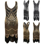 1920s Vintage Flapper Cocktail Party Evening Prom Sequin Tassel Dance Long Dress