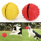 Rubber Dog IQ Treat Ball Bouncy Interactive Tooth Cleaning Toy for Chewing
