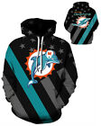 Miami Dolphins Hoodie Lightweight Small-XXXL 2XL Unisex Men Women Football $26.99 USD on eBay