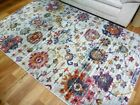 Thick Bright Traditional Tennor Design Washed Floral Multi Floor Area Rug