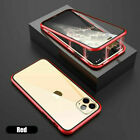 For iPhone 11 Pro Max XR 7 8 Plus XS X Magnetic 360 Protective Case Clear Cover
