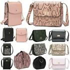 New Women's Animal Snakeskin Reptile Croc Faux Leather Fashion Handbags