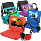 Small Travel Entertainment Portable DVD Player Matching Headphones And Bag 7 In.