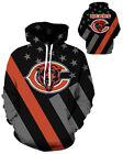 Chicago Bears Hoodie Lightweight Small-XXXL 2XL Unisex Men Women Football $26.99 USD on eBay
