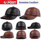 New Fashion Real Leather Baseball Cap Golf Caps Hats Outdoor Fishing Caps QV
