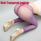 Women 70D Ultra Shiny Gloss Lace Top Silicone Stay Up Nylon Thigh High Stockings