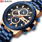 CURREN Stainless Steel Sports Watch Men's New Chronograph Military Wrist Watches image
