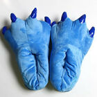 Adult Kids Animal Monster Feet Slippers Claw Dinosaur Paw Plush Funny Shoes Size