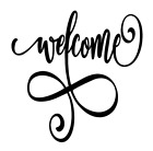 Welcome Flourish Vinyl Decal Sticker For Home Cup Mug Glass Wall Decor Choice A