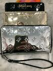 Michael Kors Jet Set Mirror Lg Flat Multifunction Phone Case Wristlet Wallet