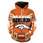 Denver Broncos Hoodie Lightweight Small-XXXL Unisex Broncs Football LN2702 $26.99 USD on eBay