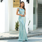 Ever-Pretty Sequin One Shoulder Mermaid Prom Dress Formal Celebrity Ball Gown US