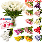 Artificial Tulip Flowers False Fake Bouquet Real Touch Home Wedding Party Decor