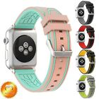 Silicone Sport Wrist Band Strap for Apple Watch Series 5 4 3 2 1 38/40mm 42/44mm image