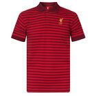 Liverpool FC Official Soccer Gift Mens Yarn Dye Marl Striped Polo Shirt