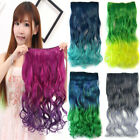 One Piece Cosplay Clip In Curly/Wavy Ombre Synthetic Hair Piece Hair Extensions