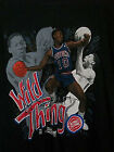 DETROIT PISTONS DENNIS RODMAN WILD THING Cotton Black Men T-shirt T1479 on eBay