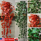 NEW Plastic Artificial Fake Ivy Hanging Vine  Plant Leaf Home Garden Wall Decor