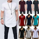 Mens Muscle T-shirt Casual Slim Fit Sports Short Sleeve Plain Tee Blouse Tops US image