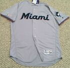 2019 Miami Marlins Authentic Flex Base Jersey Road Gray NWT New with Tags