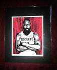 Houston Rockets James Harden - Basketball Hoops Matted Great Art Picture  Astros on eBay