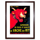 Advert Food Dairy Cheese Cow Horn Gruyere France Framed Wall Art Print