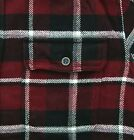 St. John's Bay Flannel Shirt Men's Plaid Heavyweight Long Sleeve Button Down Top