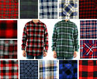St. John's Bay Flannel Shirt Men's Plaid Long Sleeve Button Down Casual Top