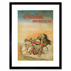 Advert Indian Motorcycles Transport Bike Red Chief Framed Wall Art Print