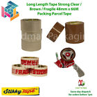 PARCEL PACKING TAPE LOW NOISE BROWN / CLEAR / FRAGILE 48MM X 66M 2 INCH STRONG