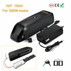 36V 10Ah 500W Downtube Lithium Li-ion Battery E-Bike Electric Bicycle Motor lot <br/> For Max Motor 500W,Mounting plate,Charger,Keys