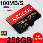 KRECOO Micro Memory Card 256GB 108MB/S Class10 Fast Flash TF Card with Adapter