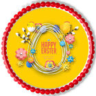 Happy Easter - Edible Cake Topper or Cupcake Topper