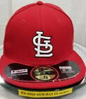 ST. LOUIS CARDINALS~MLB~NEW ERA~59FIFTY~AUTHENTIC~ON-FIELD CAP~NE-TECH~RED on Ebay