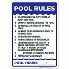 Pool Rules Sign Pool Sign $16.99 USD on eBay