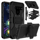 For LG V40 V50 ThinQ 5G Phone Case Shockproof Holster With Belt Clip Stand Cover