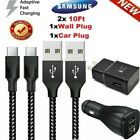 3/6/10Ft Fast Charger Type C USB-C Cable For OEM Samsung Galaxy S10 S9 S8 Note8