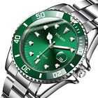 Classic Men's Diver Watch Date Analog Stainless Steel Quartz Sports Wristwatches image