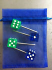 ARCHERY BOW RANGE PAPER TARGET FACE PINS - TRANSLUCENT COLORED DICE (Set of 4)