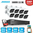 ANNKE 8CH DVR 8x 5MP Video CCTV Outdoor Security Camera System EXIR Night Vision