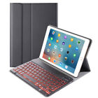 For ipad 10.2(2019)Tablet Backlit Bluetooth Keyboard +Leather Case With Pen Slot