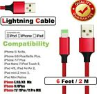 3/6/10Ft Braided USB Lightning Charger Cable Cord For iPhone 6 7 8 Plus XR Xs 11