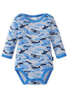Schiesser Baby Body Long Sleeve Airplane 74 80 86 92 98 104 Bodies Clouds